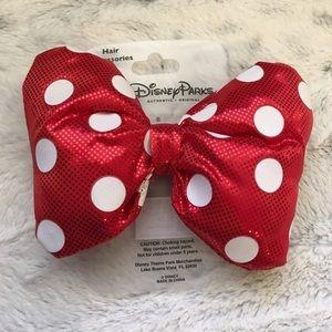 Minnie Mouse Bow hair clip